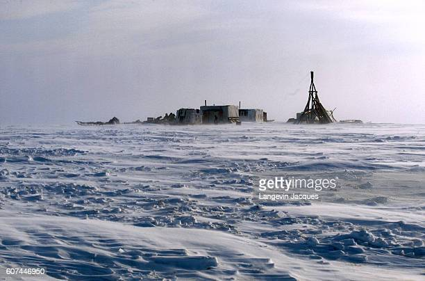 A small Dolgan settlement sits on the frozen tundra near Syndassko Russia The Dolgans traditionally a nomadic people who live along the Taymyr...
