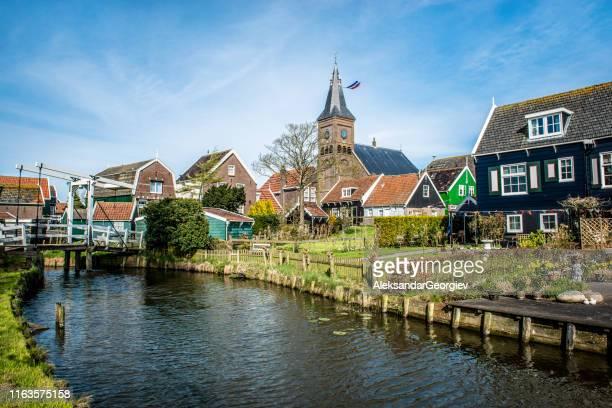 小さなオランダの牧歌的な村 - ライデン ストックフォトと画像