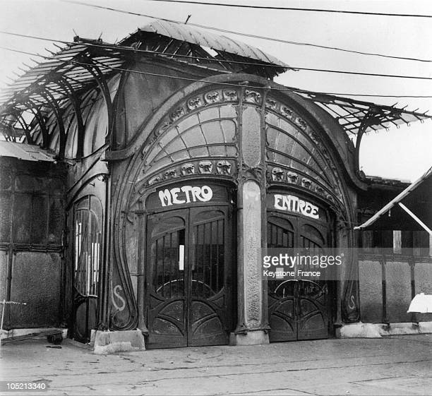 Small Edifice In 1900 Guimard Style Of The Bastille Metro Station In Paris On January 17 1961 This Edifice Was Destroyed Little After The Picture Was...