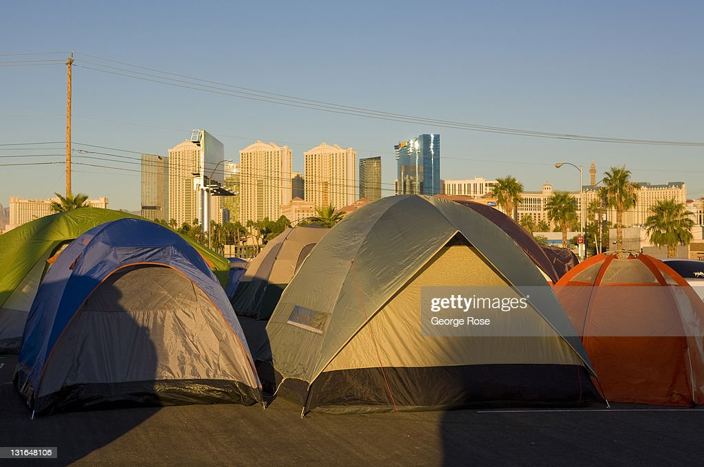 Occupy Las Vegas Draws A Sparse Crowd : News Photo