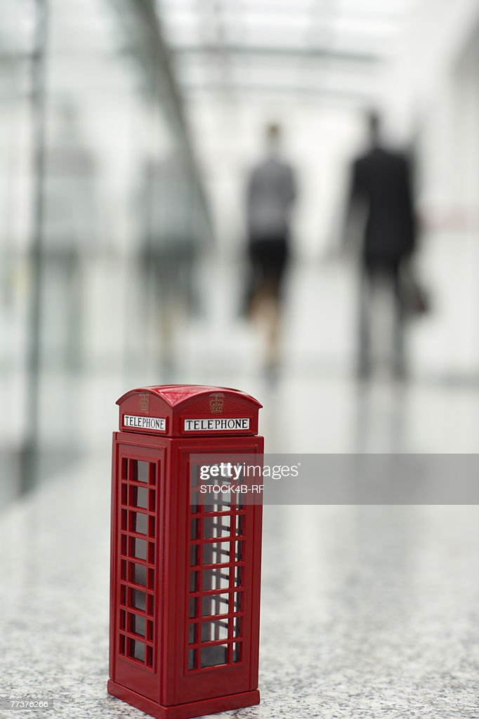 Small English  phone box in an office building : Photo