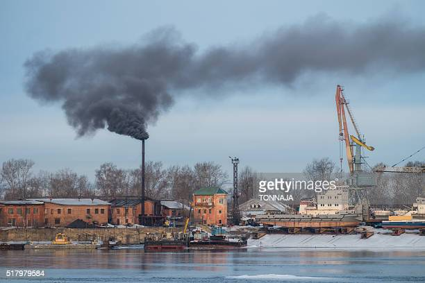 A small factory beside Irkut river