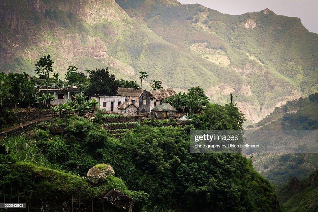Small Farm in Paul Valley, Santo Antao, Cape Verde : Stock Photo