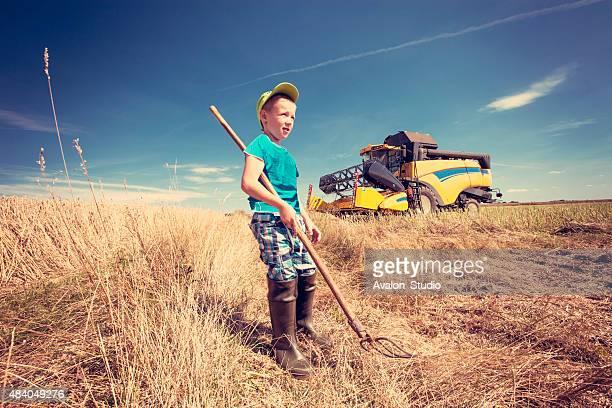 Small farmer in field