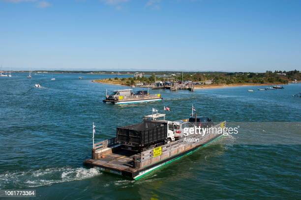 A small ferry connects Edgartown on MarthaÕs Vineyard Massachusetts USA with Chappaquiddick Island