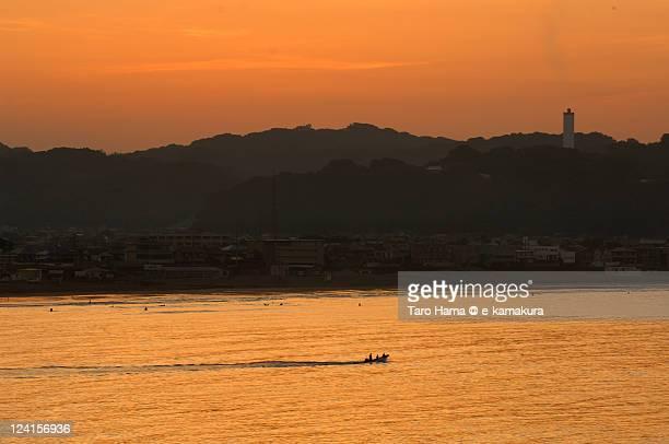Small fisher boat in Kamakura morning