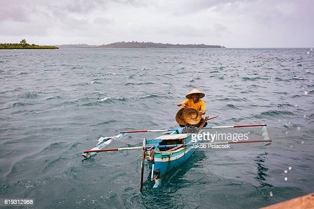 Small fisher boat in the Telos Islands