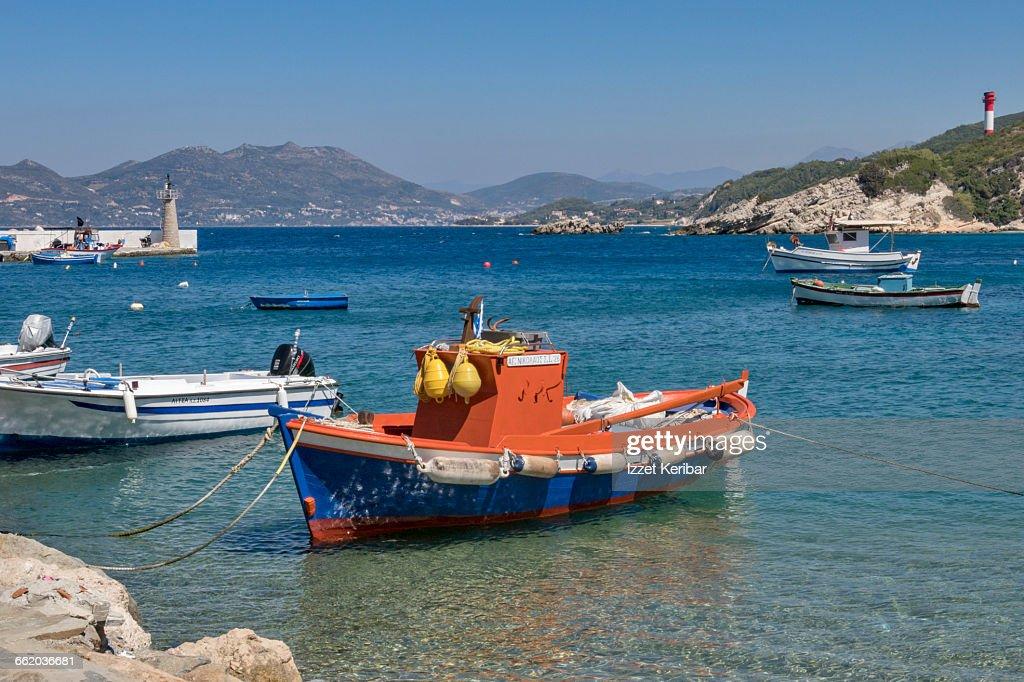 Small fisherman boat,Vathy,Samos island,Greece : Stock Photo