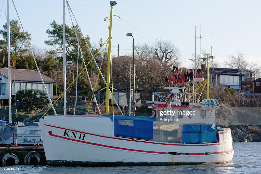 Small fishing ship : Stock Photo
