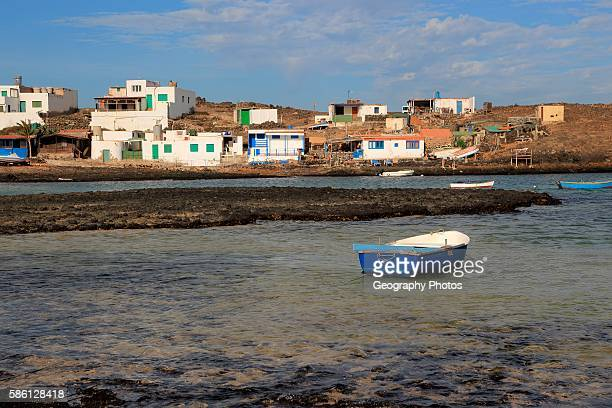 Small fishing village of Majanicho on the north coast Fuerteventura Canary Islands Spain