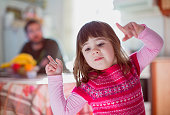 Small girl dancing