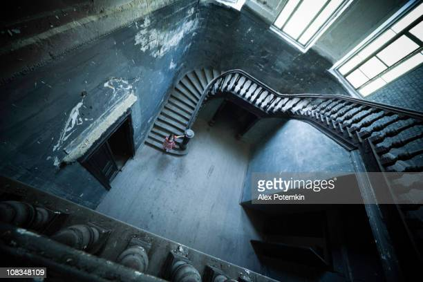 Small Girl in Abandoned Mansion