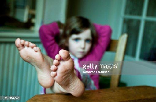 Daughter footjob