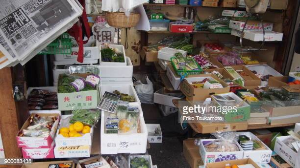 small grocery shop at fish market