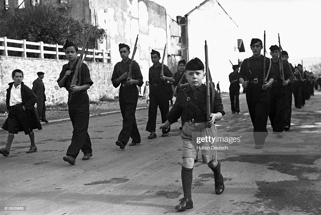 Parade of Young Fascists : News Photo