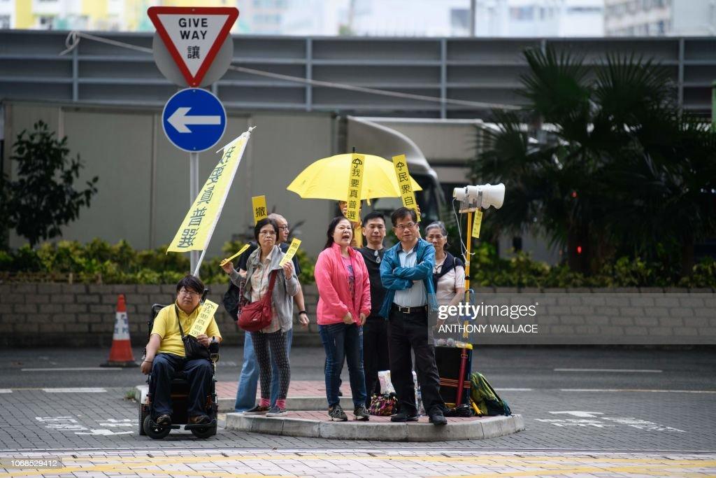 HONG KONG-POLITICS-DEMOCRACY-DEMONSTRATION-TRIAL-COURT : News Photo