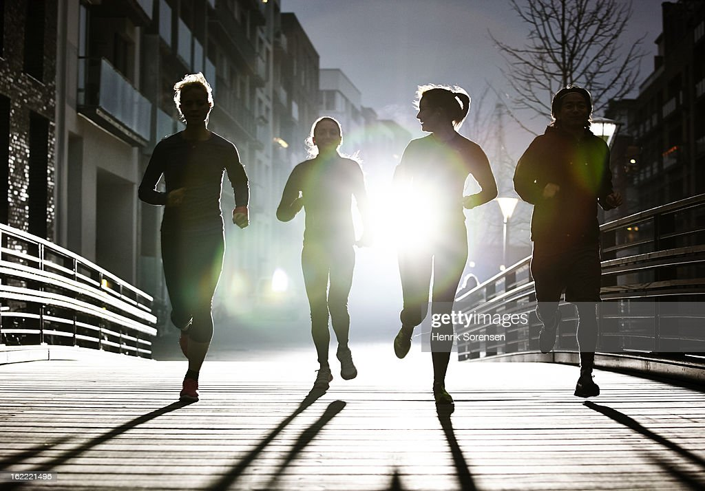 small group of runners : Stock Photo