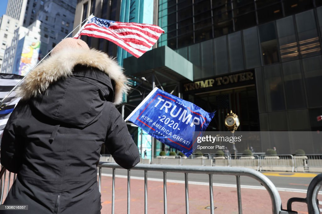 Security Increased Around Trump Tower, As Former President Trump Spends Time In New York City : News Photo