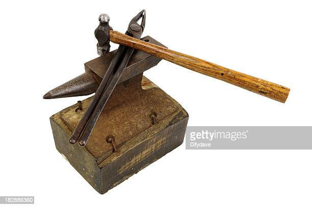 Small Hammer Anvil And Tongs