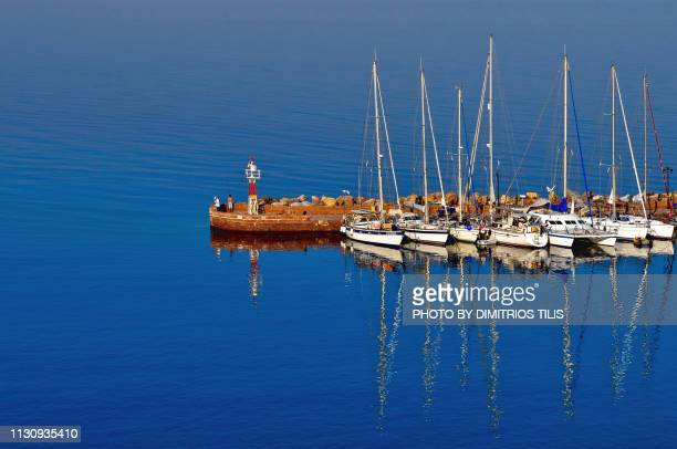 Small harbor and lighthouse of Molyvos