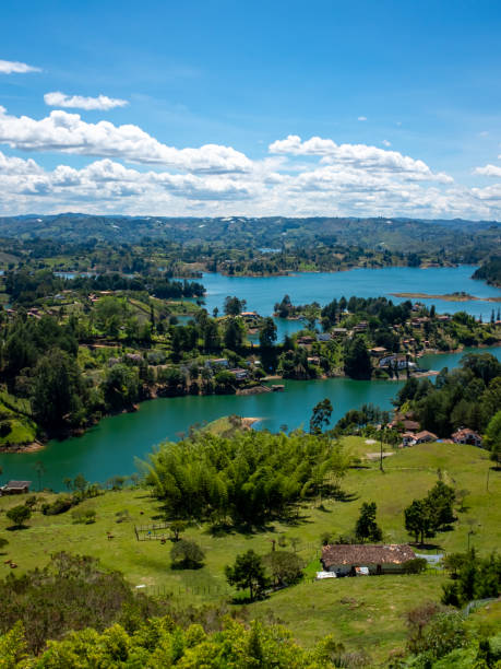 Small Hills Surround by the Water that look like Islands near to Guatape Peñol