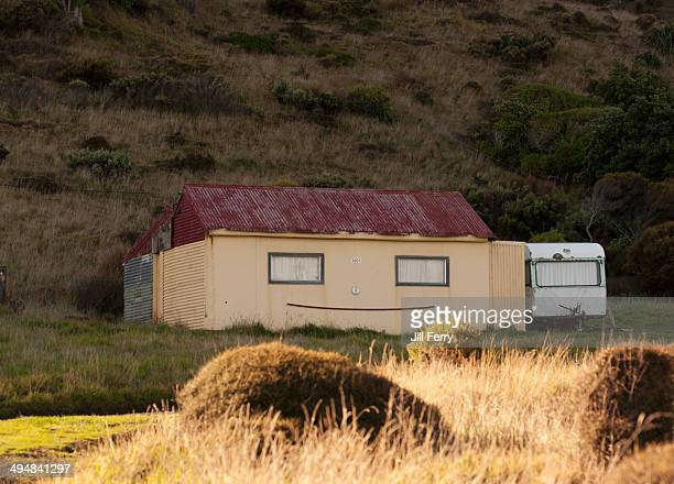 Small holiday house or 'Bach' with a smile on the road to Cape Palliser