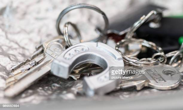 ILLUSTRATION A small horseshoe as a key ring lies in a bowl with keys in Bielefeld Germany 29December 2017 Photo Friso Gentsch/dpa