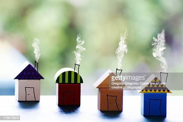 small houses - gregoria gregoriou crowe fine art and creative photography. - fotografias e filmes do acervo