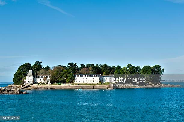 Small island at Douarnenez Brittany region in France