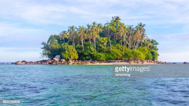 A small island in Belitung beach