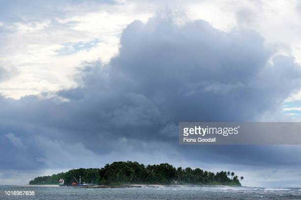 A small island off the north end on the mainland on August 15 2018 in Funafuti Tuvalu All 8 islands in the group are inhabited The small South...