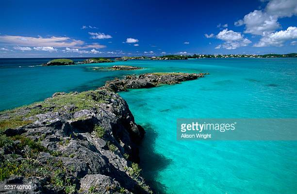 small islands in bermuda - bermuda stock pictures, royalty-free photos & images