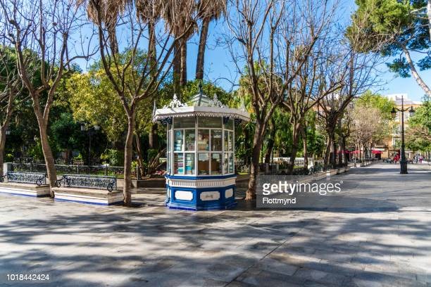 small kiosk on plaza de mina in cadiz - kiosk stock pictures, royalty-free photos & images