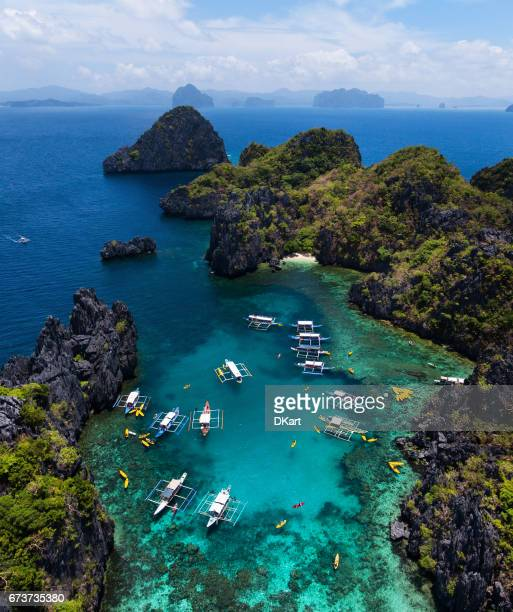 small lagoon in palawan - palawan island stock pictures, royalty-free photos & images