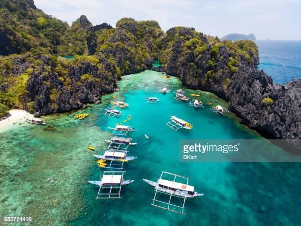 Small lagoon in Palawan