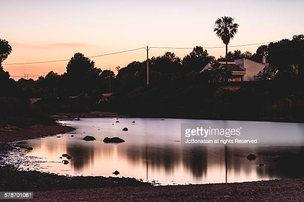 a small lake at tarragona spain - jcbonassin stock pictures, royalty-free photos & images