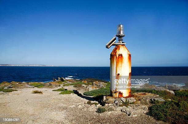 Small lighthouse at Point Ellen at Vivonne Bay, Kangaroo-Island, South Australia, Australia