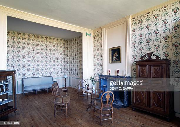 Small living room Chateau de Ravel Auvergne France
