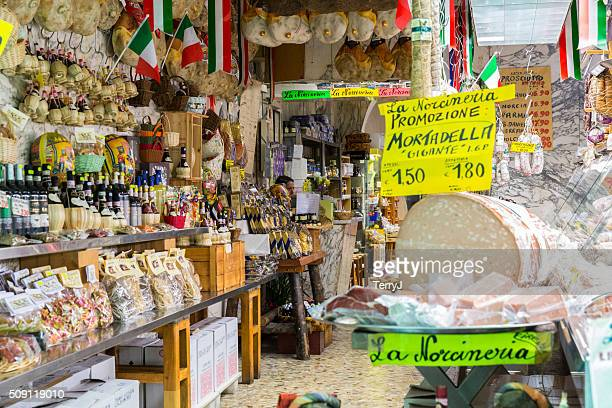 Small Market in Florence Italy Featuring Cheese