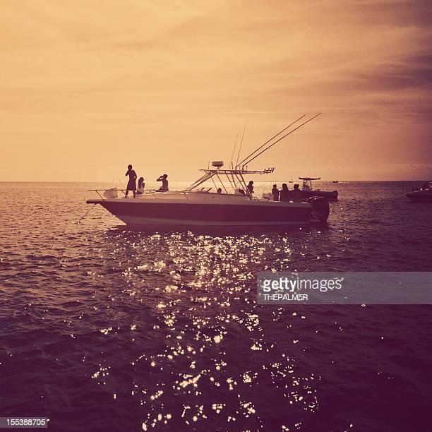 Kleine Motorboot in miami