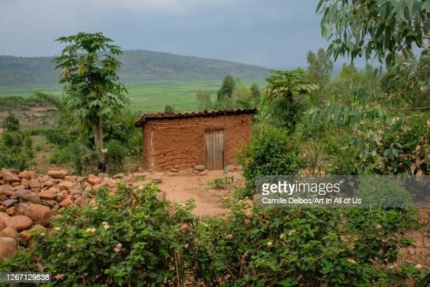 Small mud house in the countryside on Septembre 20, 2018 in Kajevuba, Bugesera, Rwanda.