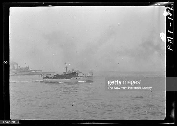 Small municipal ferry boat New York Harbor New York New York late 19th or early 20th century