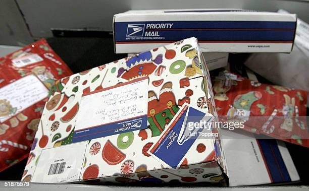 Small packages along a conveyer belt in the Small Parcel Bundle Sorting area at the West Valley Logistics Distribution Center December 16 2004 in...