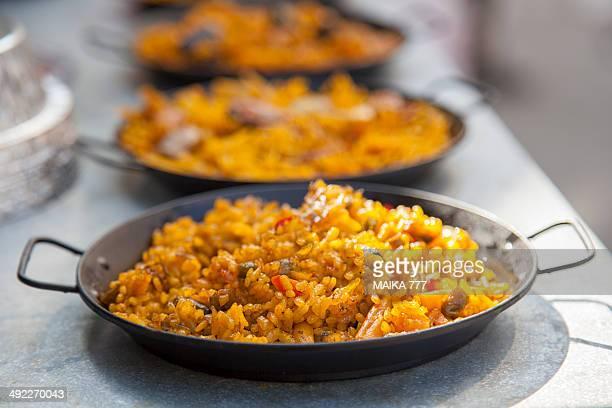 small 'Paella Valenciana' to consume individually