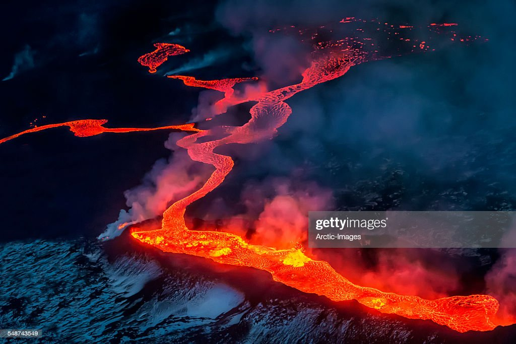 Small part of Lava flowing, Iceland : Stock Photo