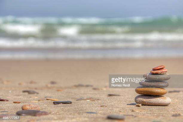Small pebble composition on the beach 2