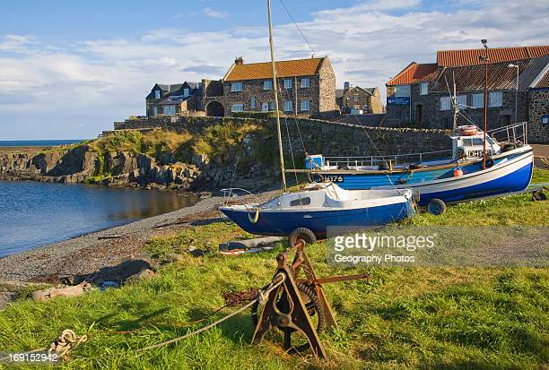 Small picturesque harbor at Craster Northumberland England