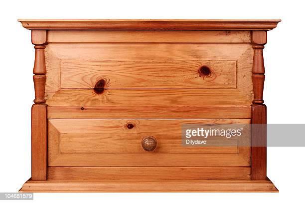 小さな木製家具、胸にパイン - 引き出し ストックフォトと画像