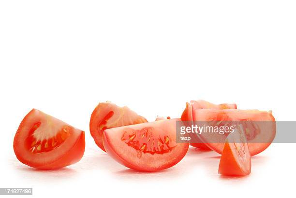 Small pieces of tomato