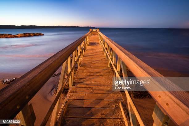 small pier at luderitz - don smith stock-fotos und bilder